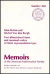 Two-Dimensional Tame and Maximal Orders of Finite Representation Type - Idun Reiten, M. Van Den Bergh, Michel Van Den Bergh