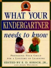 What Your Kindergartner Needs to Know (Core Knowledge Series) - E.D. Hirsch Jr.