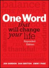 One Word That Will Change Your Life, Expanded Edition - Jon Gordon, Dan Britton, Jimmy Page