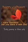 I knew Bukowski like you knew a rare leaf - Harry Calhoun