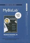 New Mybizlab with Pearson Etext -- Access Card -- For Business Essentials - Ronald J. Ebert, Ricky W. Griffin