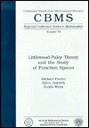 Littlewood-Paley Theory and the Study of Function Spaces (Cbms Regional Conference Series in Mathematics) - Michael Frazier, Guido Weiss