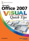 Microsoft Office 2007 Visual Quick Tips - Paul McFedries