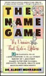 The Name Game - Albert Mehrabian