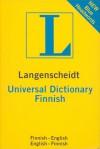 Langenscheidt Universal Finnish Dictionary: Finnish-english/ English-finnish - Langenscheidt