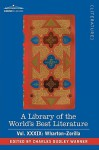 A Library of the World's Best Literature - Ancient and Modern - Vol.XXXIX (Forty-Five Volumes); Wharton-Zorilla - Charles Dudley Warner