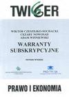 Warranty subskrypcyjne - Wiktor Czeszejko Sochacki, Cezary Nowosad, Adam Wiśniewski