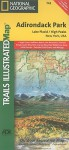 MAP: Lake Placid, High Peaks Trails Illustrated Map # 742 (National Geographic Maps: Trails Illustrated) - NOT A BOOK