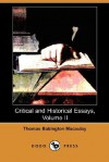 Critical and Historical Essays, Vol 2 - Thomas Babington Macaulay