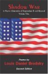Shadow War, Volume One: A Poetic Chronicle of September 11 and Beyond - Louis Daniel Brodsky