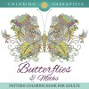 Butterflies & Moths Pattern Coloring Book For Adults (Butterfly Coloring and Art Book Series) - Coloring Therapist