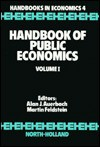 Handbook of Public Economics, Volume 1 - Alan J. Auerbach