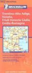 Carte routière : Veneto, Trentino Alto Adige, Friuli Venezia Giulia, Emilia Romagna, N° 11562 - Michelin Travel Publications