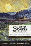 New Mycomplab with Pearson Etext -- Standalone Access Card -- For Quick Access Reference for Writers - Lynn Q. Troyka, Doug D. Hesse