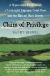 Claim of Privilege - Barry Siegel