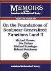 On the Foundations of Nonlinear Generalized Functions I and II - Michael Grosser