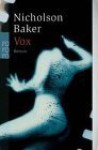 Vox - Nicholson Baker