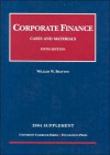 Corporate Finance 2004 Supplement - William W. Bratton