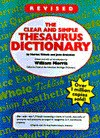 The Clear And Simple Thesaurus Dictionary - Harriet Wittels, Joan Greisman, Greismn Wittles