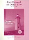 Excel Manual T/A Elementary Statistics - Allan G. Bluman, Renee Goffinet, Virginia Koehler