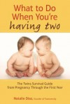 What to Do When You're Having Two: The Twins Survival Guide from Pregnancy Through the First Year - Natalie Diaz