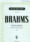 Song of Fate for Chorus and Orchestra (Schicksalslied fur Chor und Orchester) Op. 54 Piano Score by Brahms (SATB) (Edition Breitkopf, Nr. 6073) - Johannes Brahms, text Friedrich Holderlin, Florence T. Jameson