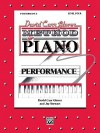 David Car Glover Method For Piano / Performance / Lev - Alfred Publishing Company