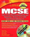 MCSE Exam 70-294 Study Guide & DVD Training System: Planning, Implementing, and Maintaining a Windows Server 2003 Active Directory Infrastructure [Wit - Michael Cross