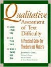 Qualitative Assesment of Text Difficulty: Practical Guide for Teachers and Writers - Jeanne S. Chall