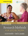 Cengage Advantage Books: Brooks/Cole Empowerment Series: Research Methods for Social Work - Allen Rubin