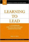 Learning to Lead: A Handbook for Postsecondary Administrators - James R. Davis