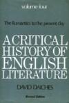 A Critical History Of English Literature 4 - David Daiches