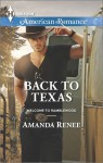 Back to Texas - Amanda Renee
