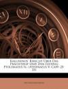 Kallixenos' Bericht Über Das Prachtzelt Und Den Festzug Ptolemaeus Ii.: (Athenaeus V. Capp. 25-35) (German Edition) - Wilhelm Franzmeyer