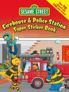 Sesame Street Firehouse & Police Station Super Sticker Book - Sesame Street, Ernie Kwiat