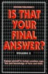 Is That Your Final Answer? Volume 2 - Modern Publishing