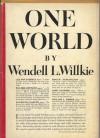 One World - Wendell L. Willkie