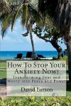 How to Stop Your Anxiety Now: Transforming Fear and Worry Into Peace and Power - David Larson