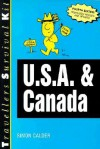 Travellers Survival Kit: U. S. A. and Canada (1997) - Vacation Work Publications, Simon Calder