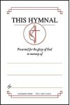"""United Methodist Hymnal Bookplates """"In memory of..."""" (Pkg of 48): """"This hymnal presented for the glory of God in memory of..."""" - Abingdon Press"""