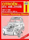 Citroen 2 Cylinder, 2CV Ami and Dyane 1967-90 Owner's Workshop Manual (Service & Repair Manuals) - Ian Coomber
