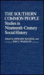 The Southern Common People: Studies in Nineteenth-Century Social History - Edward Magdol, Jon L. Wakelyn