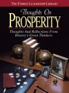 Thoughts on Prosperity: Thoughts and Reflections From History's Great Thinkers - Forbes
