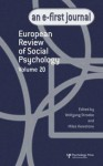 European Review of Social Psychology: Volume 20: A Special Issue of the European Review of Social Psychology - Wolfgang Stroebe