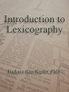 Introduction to Lexicography - Barbara Ann Kipfer