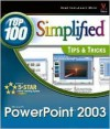 PowerPoint 2003: Top 100 Simplified Tips & Tricks - maranGraphics Development Group