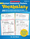 Vocabulary - Jan Meyer