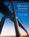 A First course in Differential Equations: Student Solution Manual for Zill's Classic Fifth Ed. - Warren S.Wright