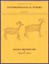 Kiliwa Dictionary - Mauricio J. Mixco