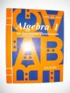 Algebra 1: An Incremental Development - Solutions Manual - John H. Saxon Jr.